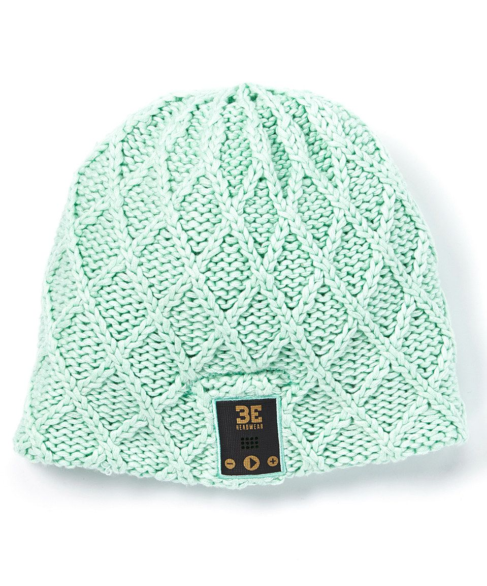 This BE Headwear Sea Foam Bluetooth Lovespun Beanie by BE Headwear is perfect! #zulilyfinds