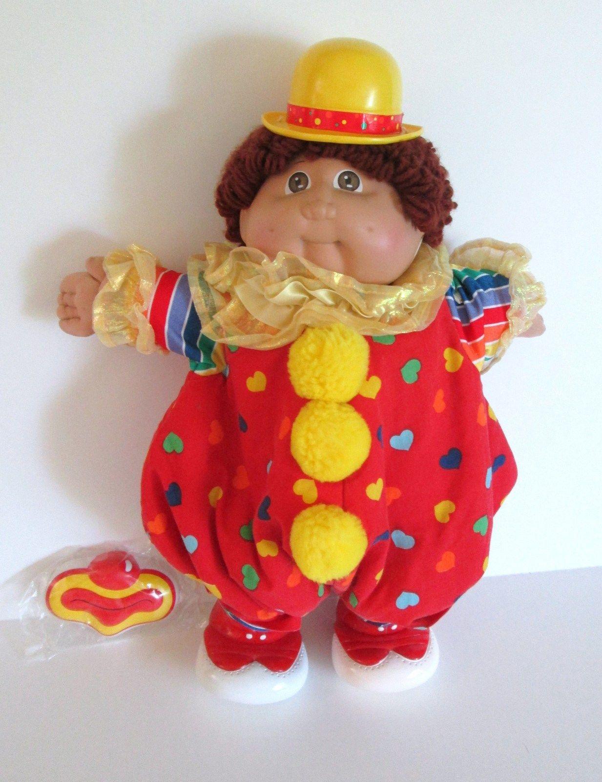 Cabbage Patch Clown Boy Doll 1984 Coleco Hm 2 Auburn Loop Hair Hazel Eyes Vintage Cabbage Patch Dolls Black Cabbage Patch Doll Cabbage Patch Dolls