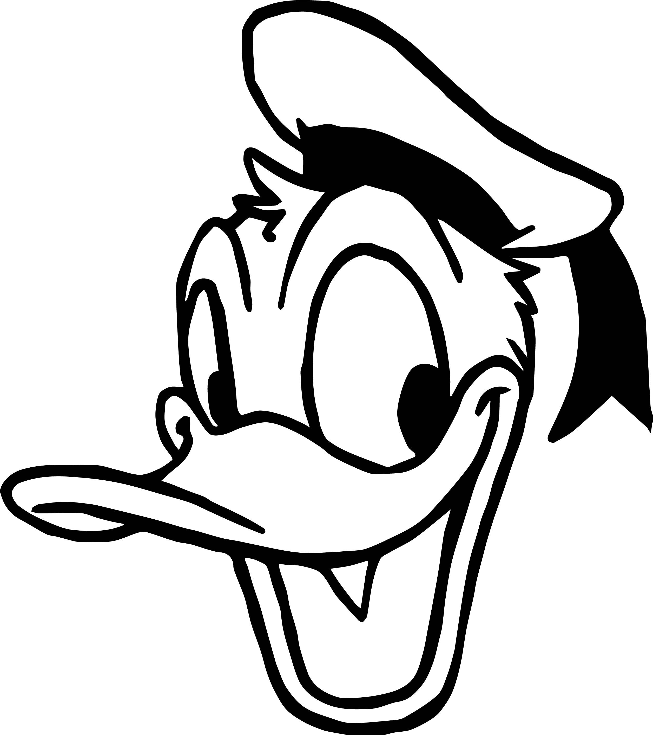 Cool Duck Face Donald Coloring Page With Images Coloring Pages