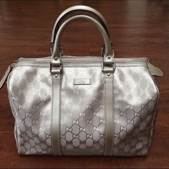 Silver Gucci Joy Boston Bag