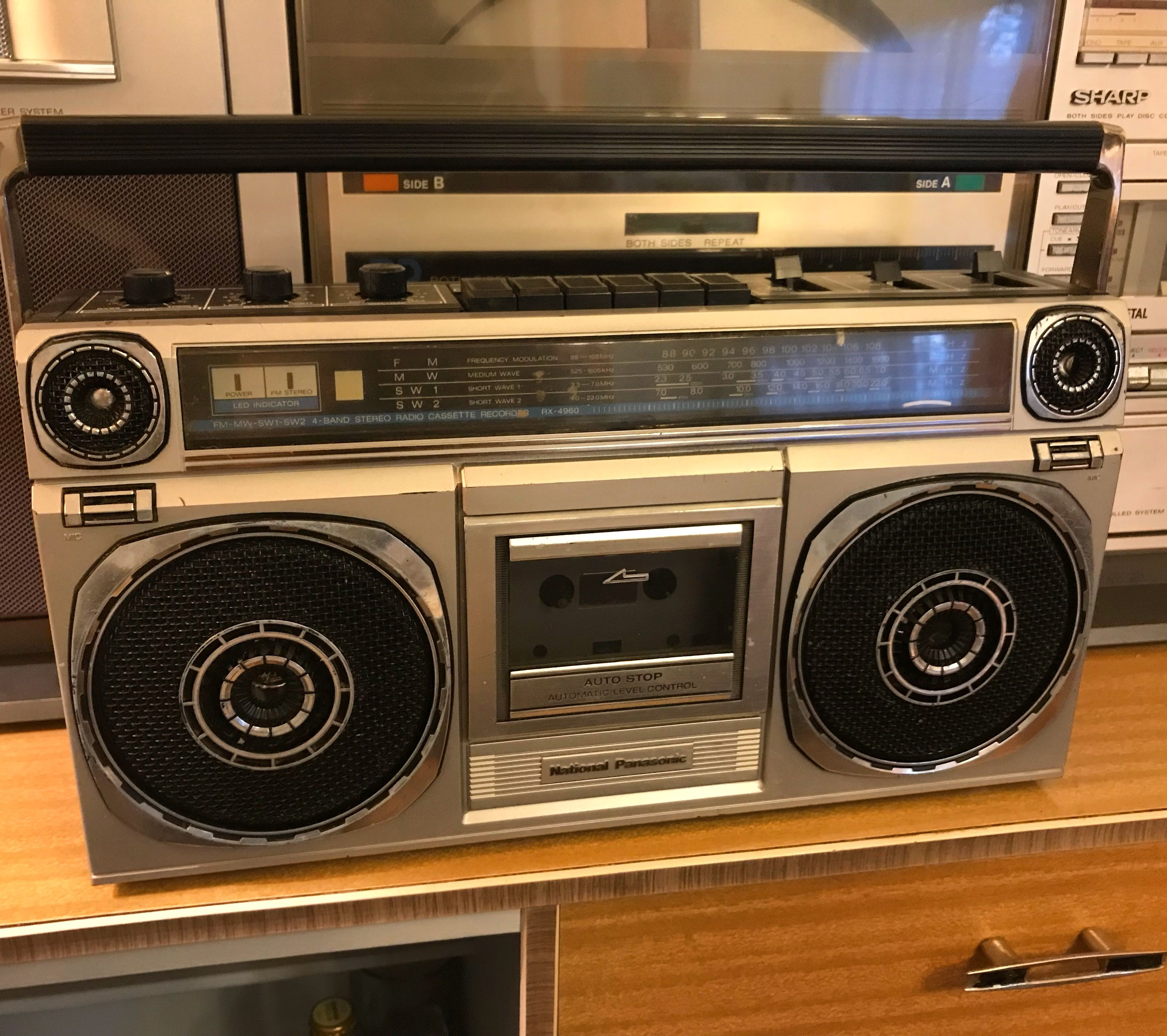 National Panasonic Rx 4960f Boombox Ghetto Blaster Boombox Record Players Hifi Audiophile