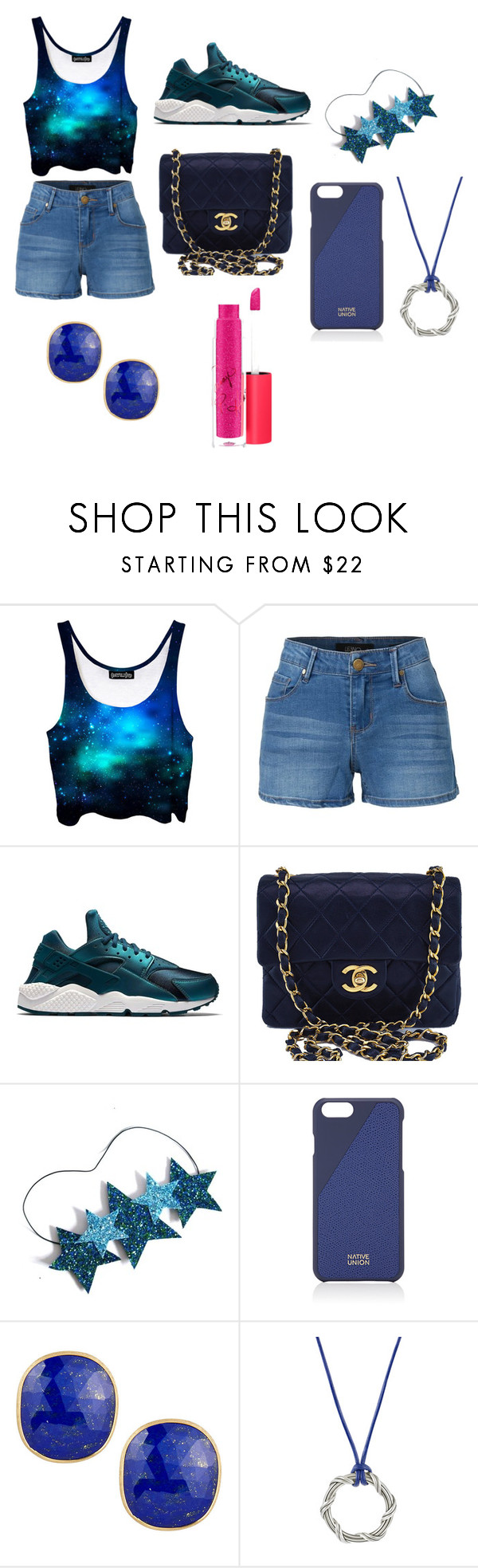 """LAST DAY OF MIDDLE SCHOOL"" by bribri2004 ❤ liked on Polyvore featuring LE3NO, NIKE, Chanel, Native Union, Marco Bicego, Bling Jewelry and MAC Cosmetics"