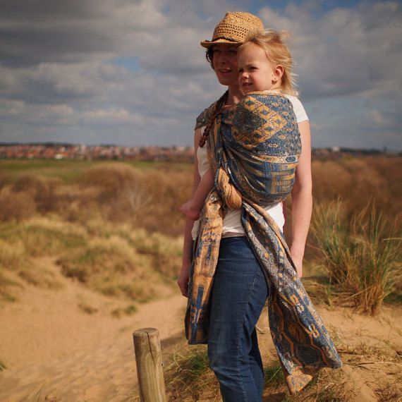 Sea and Sand Bedouin Size 4 by LawildeBabywearing on Etsy
