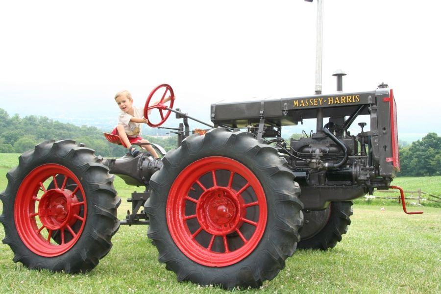 Antique Tractors 4 Wheel Drive : Massey harris general purpose wheel drive fully