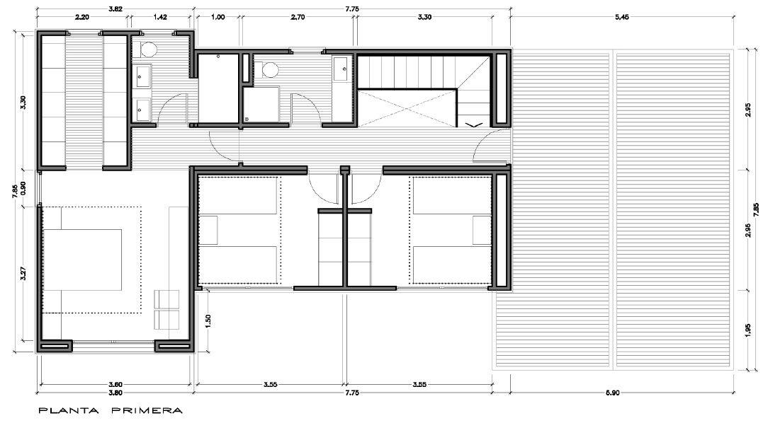 Modelo de casa INNOVA de 215 m2 Vitale Loft plans Pinterest - plan petite maison 70 m2