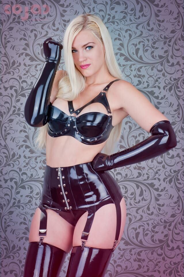Sexy leather lingerie