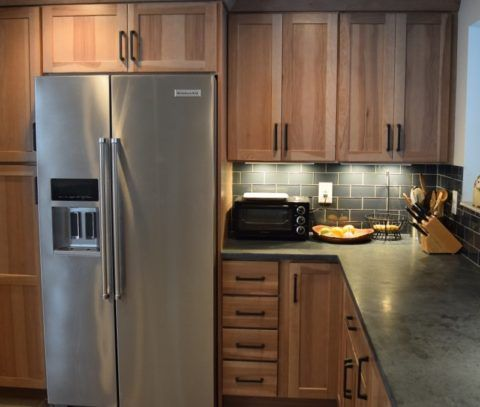 Rustic Industrial Shaker Style Hickory Cabinets By