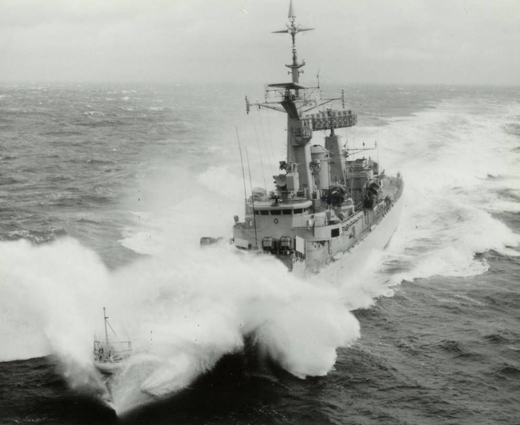 Leander In Rough Seas Royal Navy Ships Navy Day Navy Ships