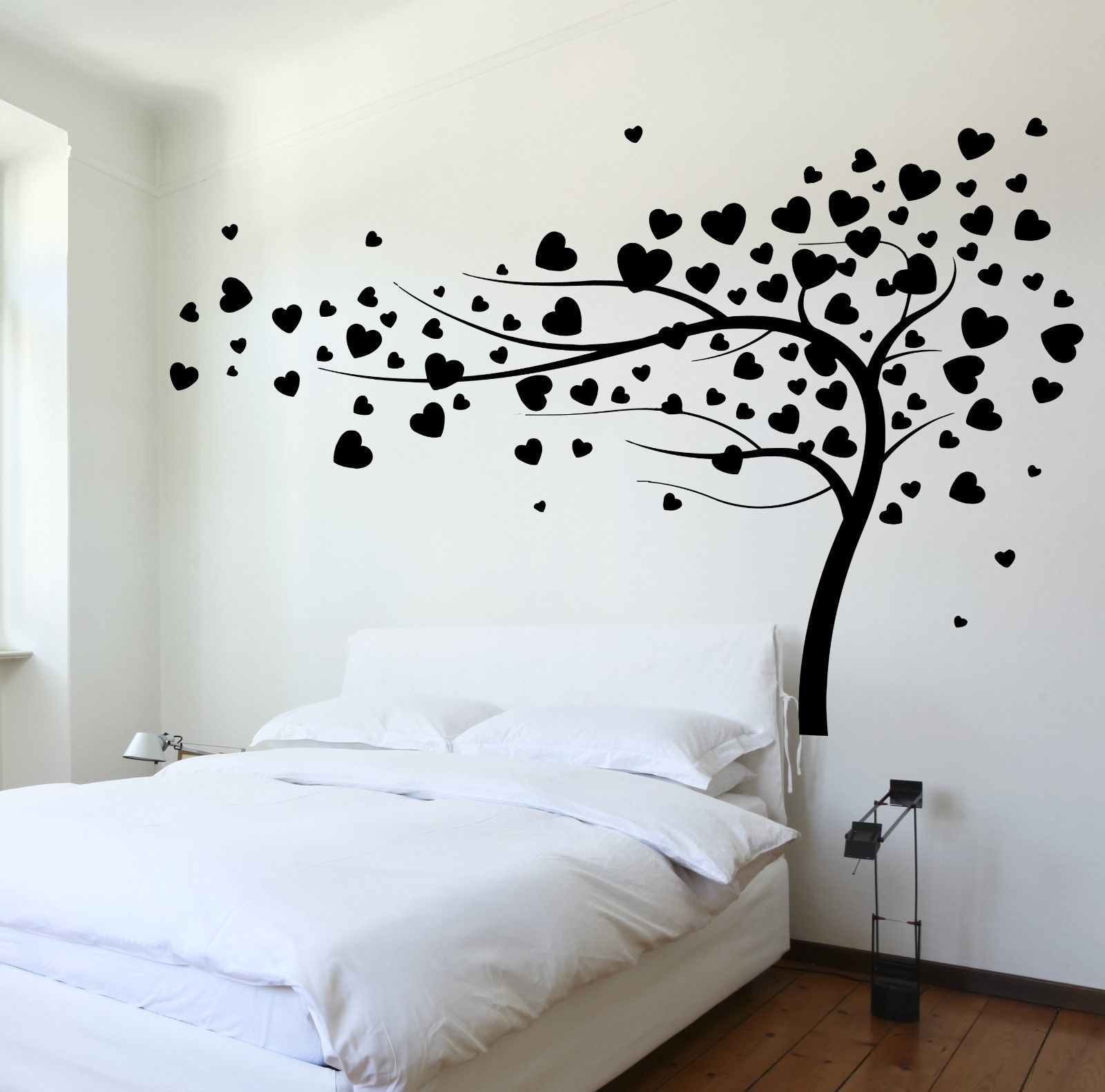 details about wall decal tree branch hearts leafs for on wall stickers for bedroom id=11552