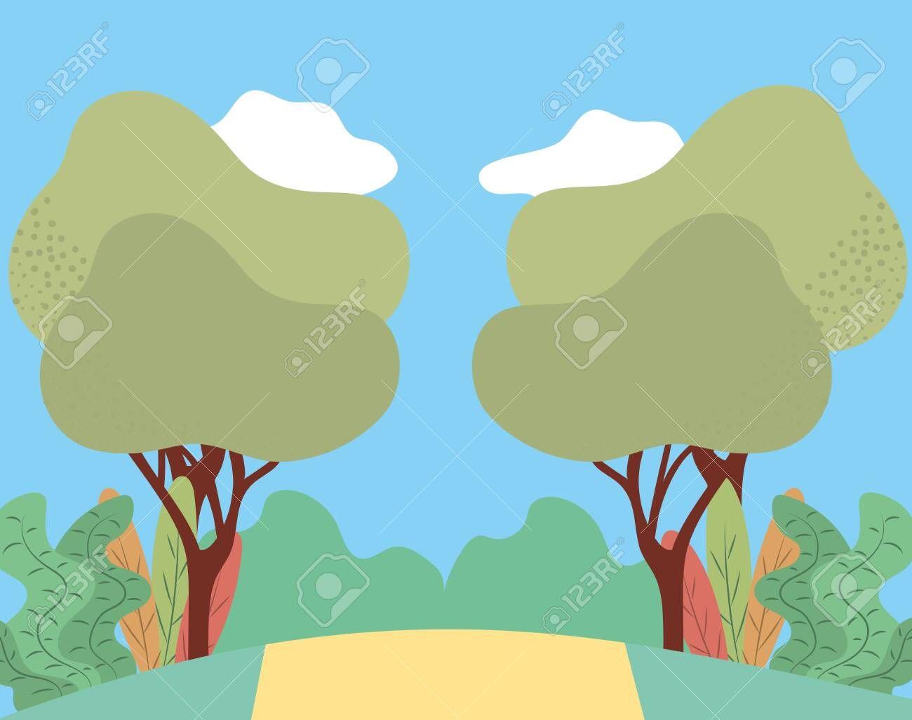 Park Landscape Icon Cartoon Vector Illustration Graphic Design Affiliate Icon Cartoon Park Landsc In 2020 Cartoons Vector Park Landscape Vector Illustration