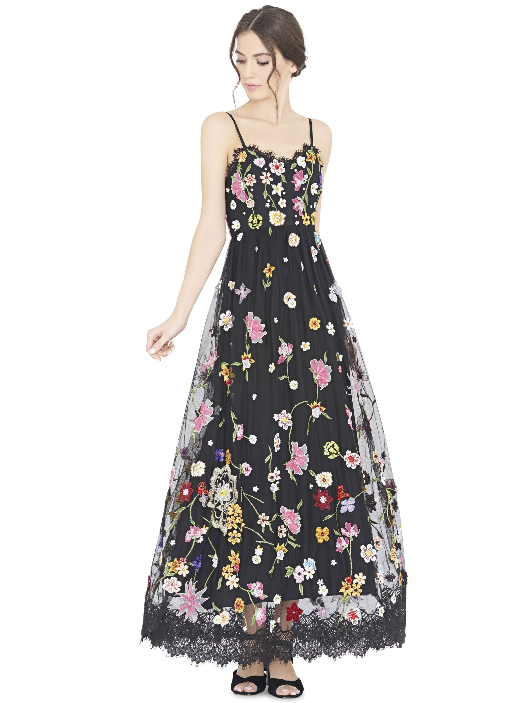 LINDY EMBROIDERED V-NECK SPAGHETTI STRAP GOWN by Alice… | Gorgeous ...