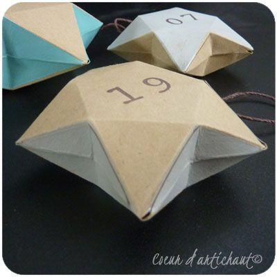 Sehr Etoile 3D, boite en papier. Tutoriel Coeur d'artichaut© | Noël  LN34
