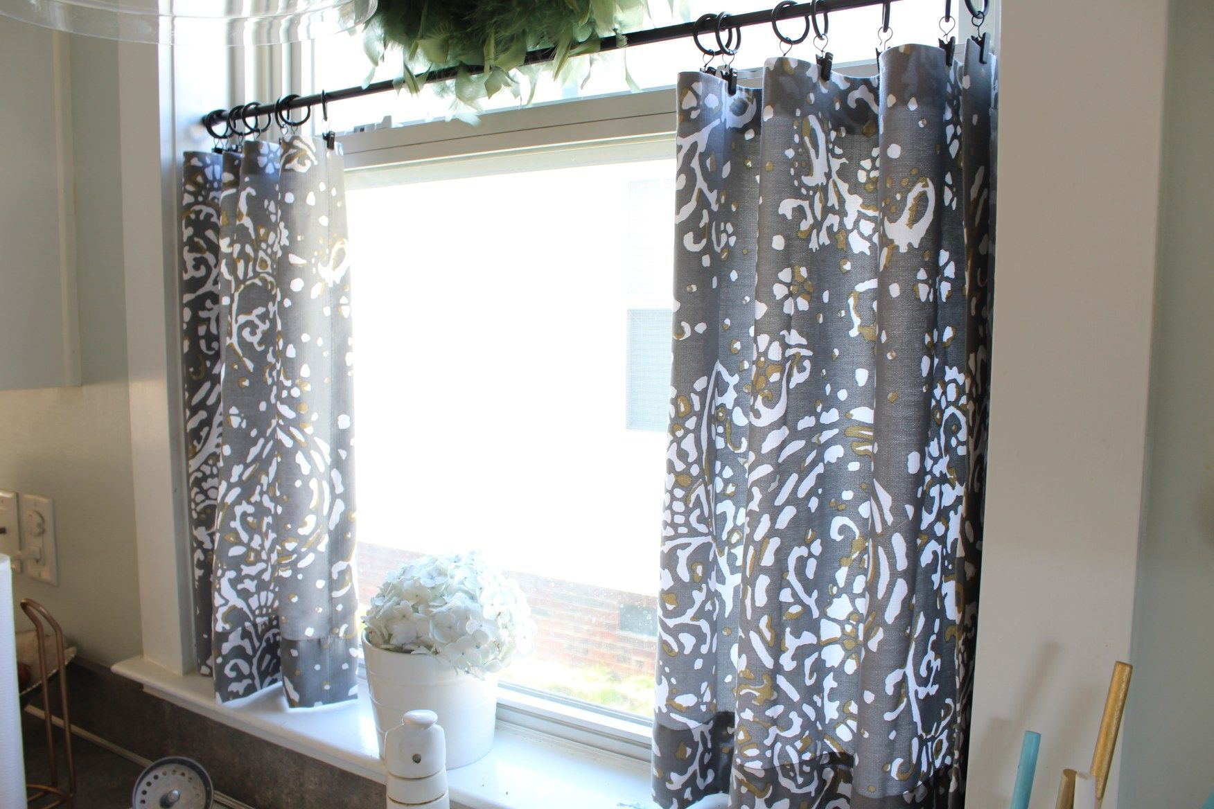 window simple ideas linen kitchen sew curtains cafe curtain no stylings