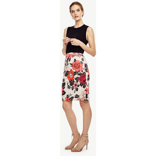 Ann Taylor Sundrenched Floral Pencil Skirt ($89) ❤ liked on ...