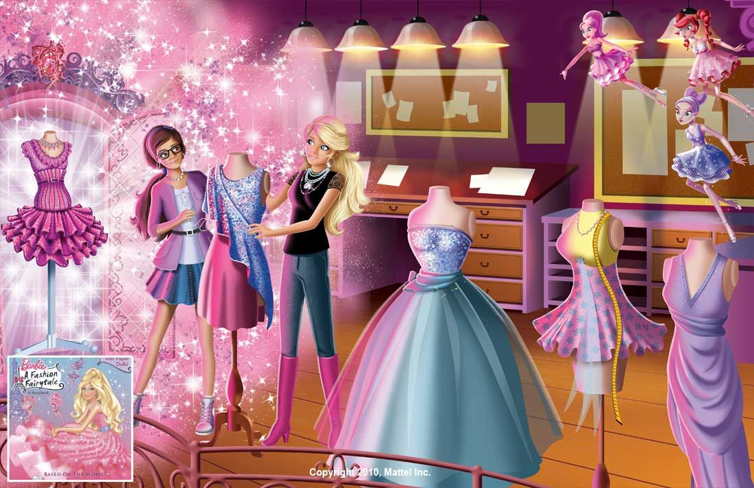 Barbie A Fashion Fairytale Cartoon Illustration Colorist For Book Was Malane Newman And Here