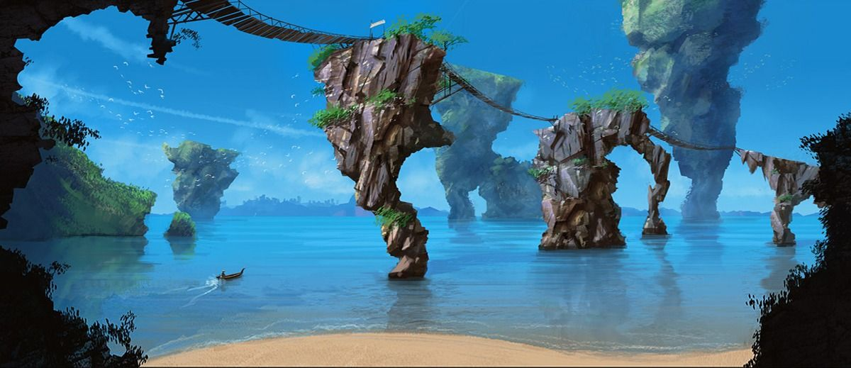 Image result for fantasy beach landscape pinterest