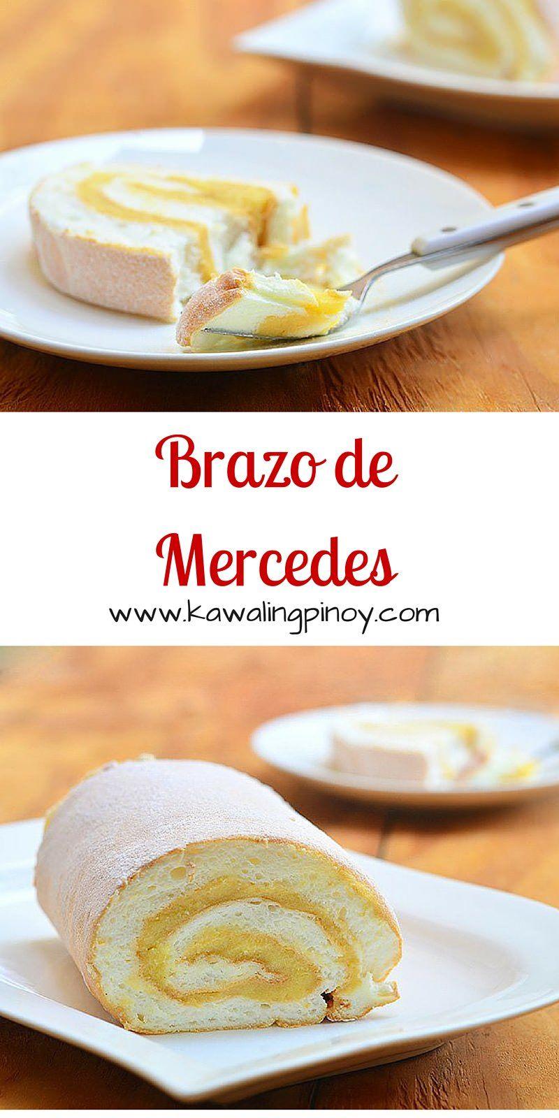 Brazo De Mercedes Recipe Filipino Desserts Desserts Food