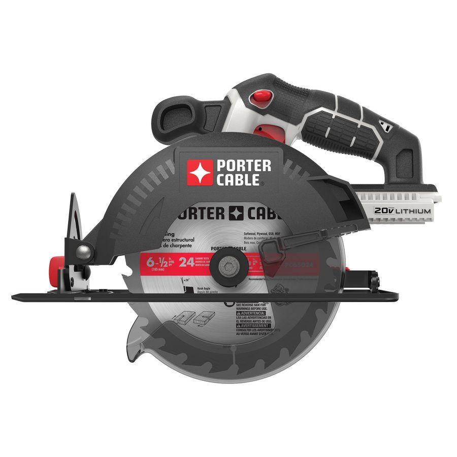 Porter Cable 20 6 1 2 In Cordless Circular Saw Porter Cable Cordless Circular Saw Best Circular Saw