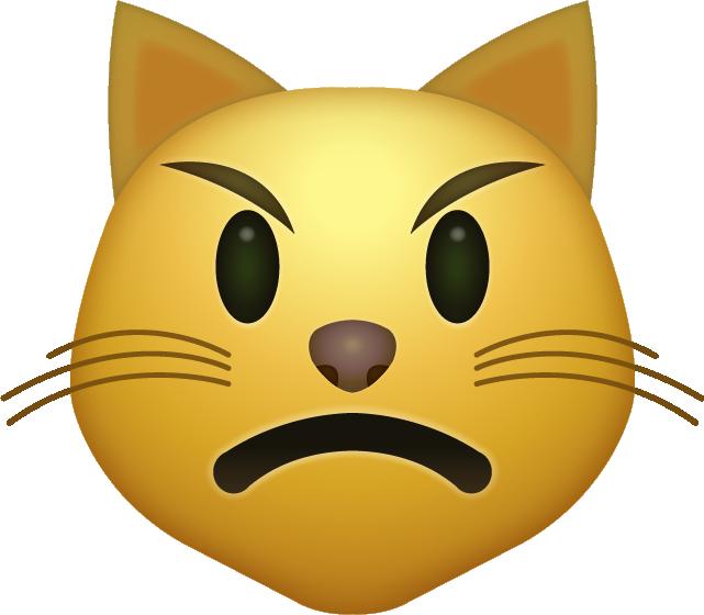 Angry Cat Emoji Download Iphone Emojis Cat Emoji Emoji Angry Cat
