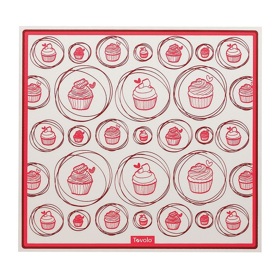 Tovolo Silicone Baking Mat For Cookie Sheet Red White Silicone