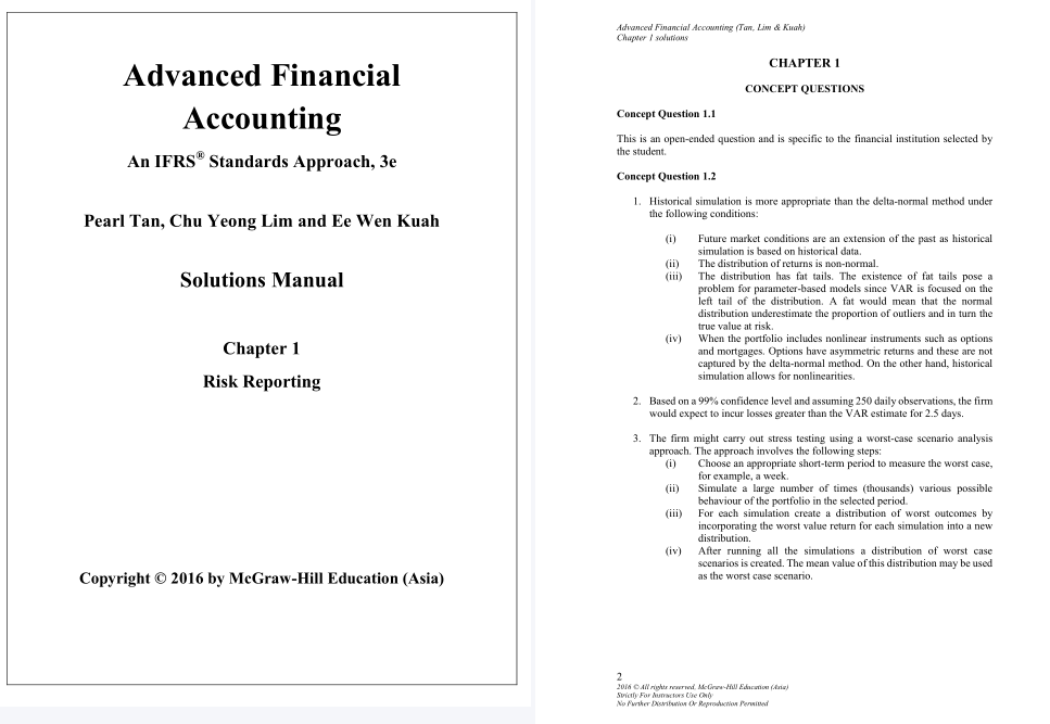 Solution Manual For Advanced Financial Accounting An Ifrs Standards Approach 3rd Edition Solution Manual For Advanced Financial Financial Accounting Solutions