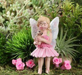 Blossom And Pet Bunny Accessories Miniature Dollhouse FAIRY GARDEN