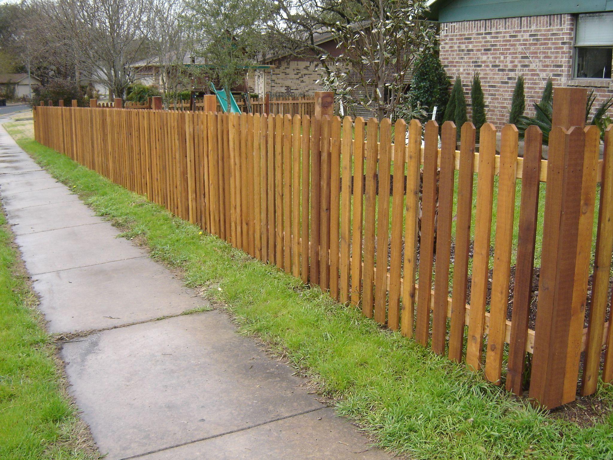 Custom Fencing Cedar Stain Fence Design Wood Fence Design