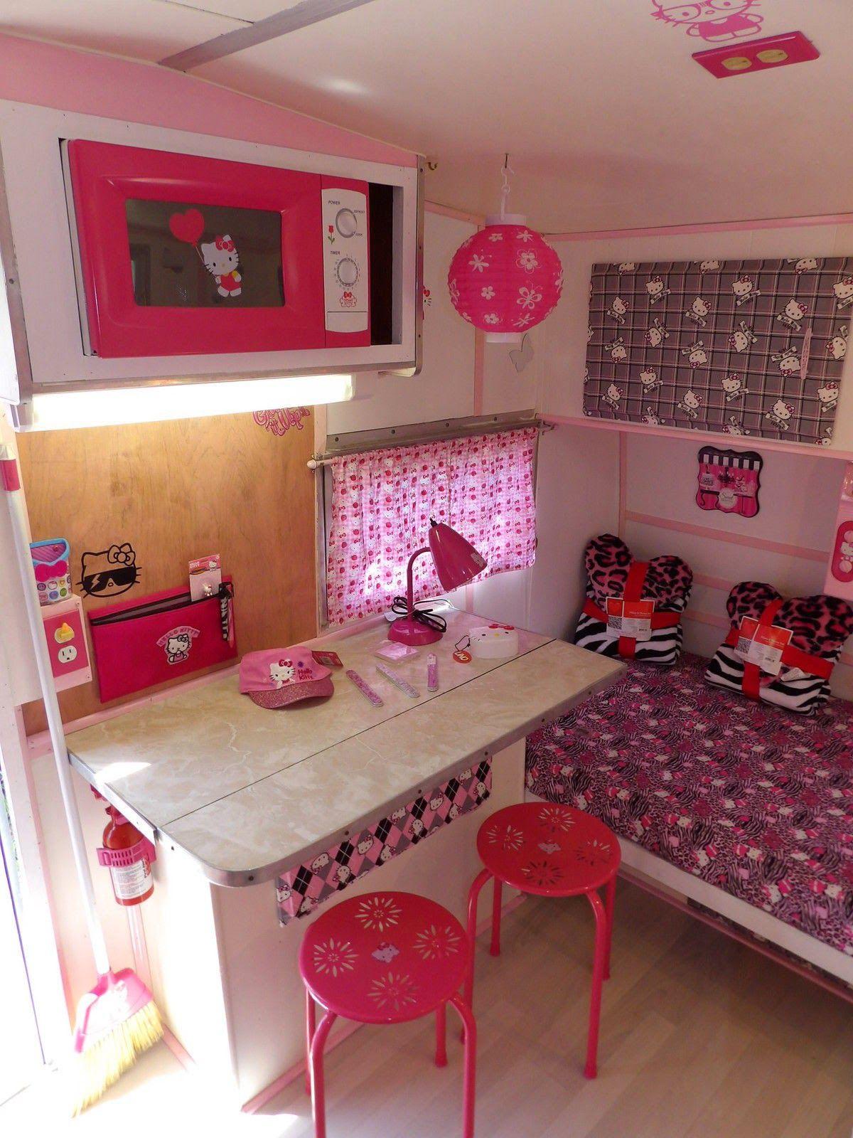 Hello Kitty Camper (interior) | hello kitty | Pinterest