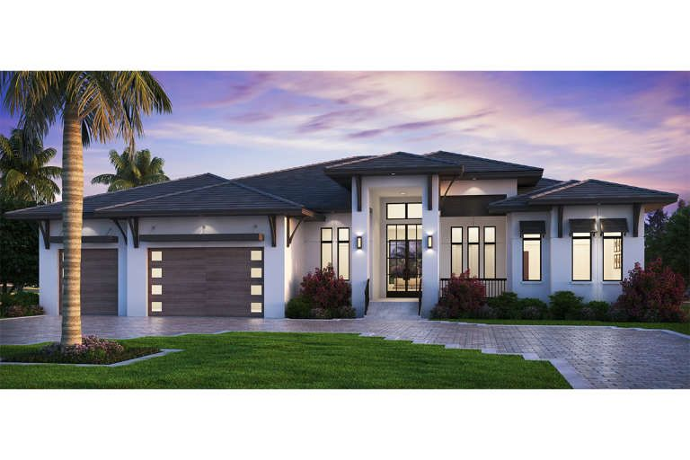 House Plan 207 00080 Florida Plan 4 346 Square Feet 5 Bedrooms 5 5 Bathrooms In 2021 Florida House Plans Modern Style House Plans Contemporary House Plans