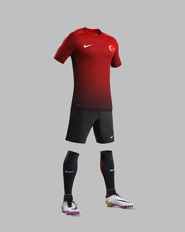 e925d46632a Turkey Nike EURO 2016 Kits - Todo Sobre Camisetas | soccer kit ...