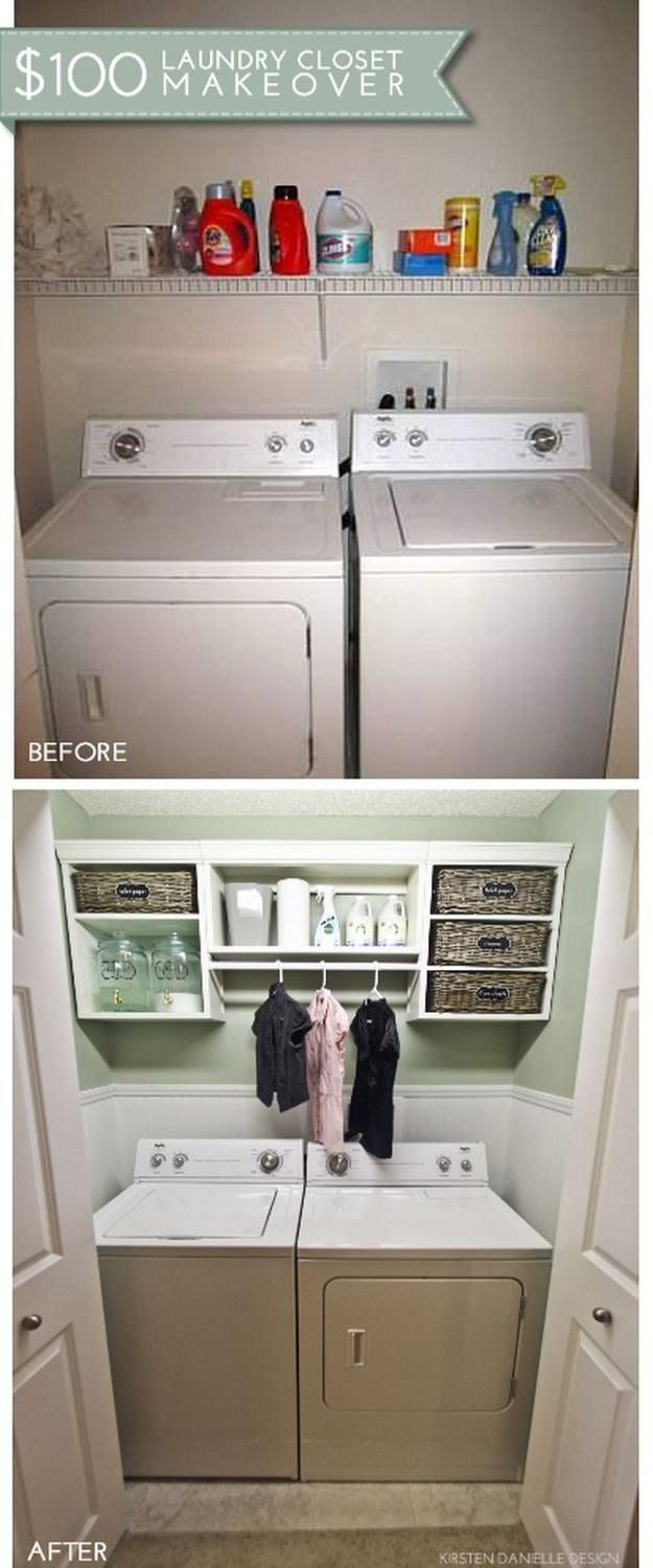 19 DIY Projects For Home Improvement On A Budget Laundry