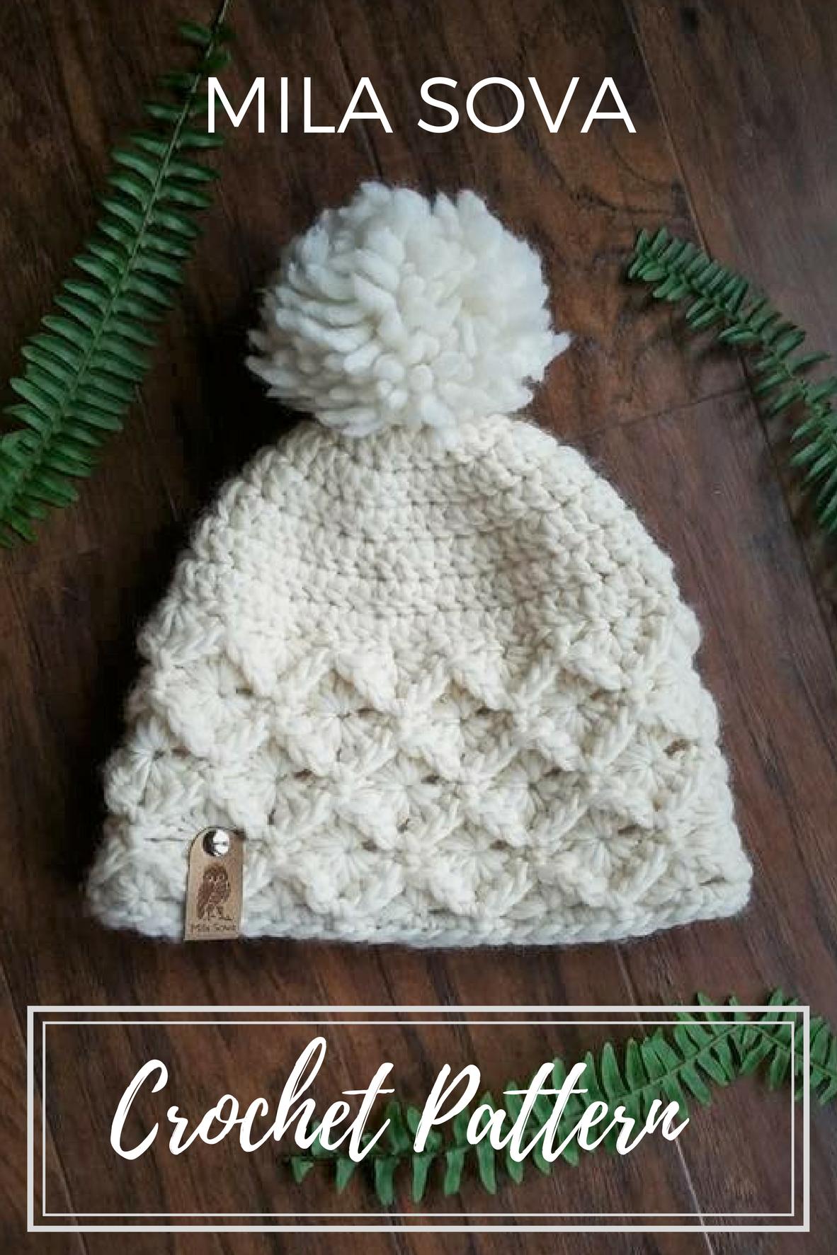 Bavarian crochet pattern beanie hat slouchy Mila Sova | Mila Sova ...