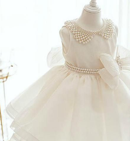 2b8ade5f6125 Girly Shop s White Adorable Pearl Applique Big Bow Pearl Sash Belt ...