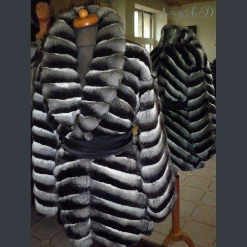 Genuine chinchilla coat. Made by FurbySD. www.furbysd.com