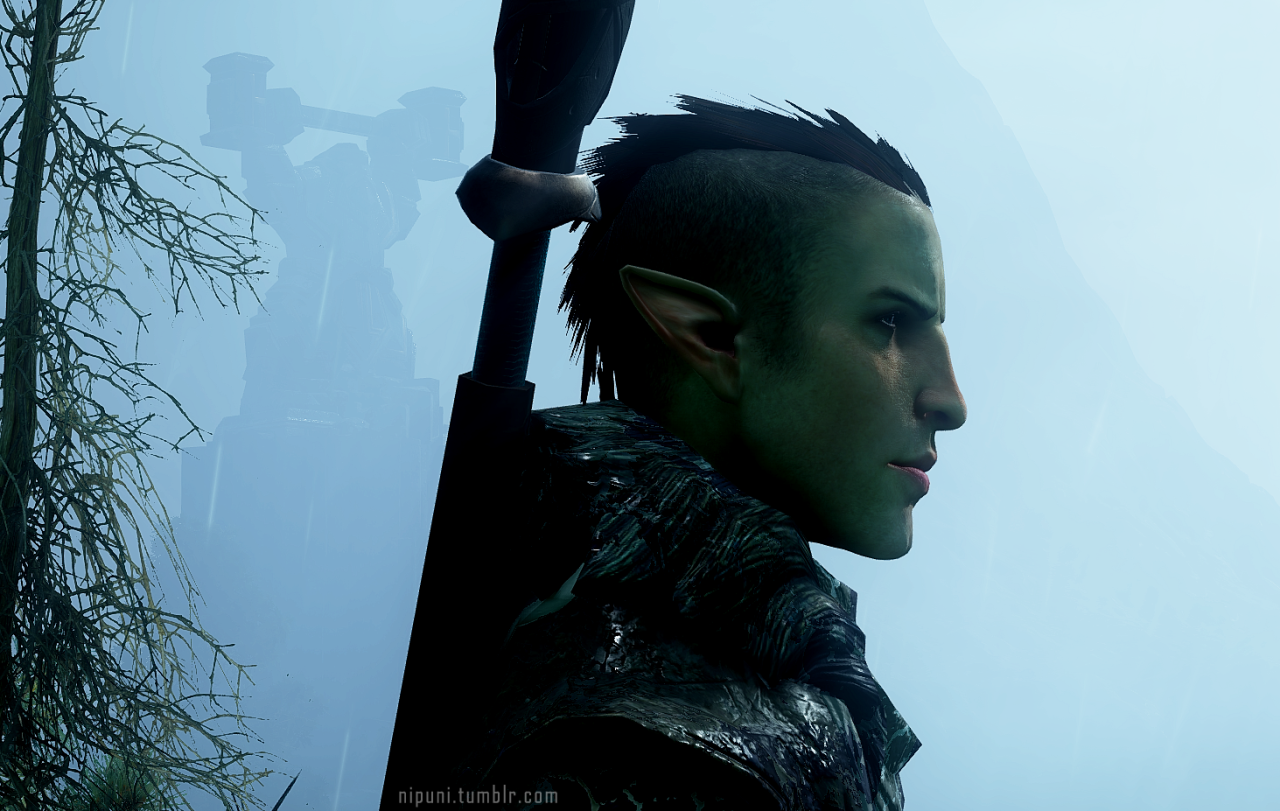 Solasus new hairstyle dragon age pinterest dragon age