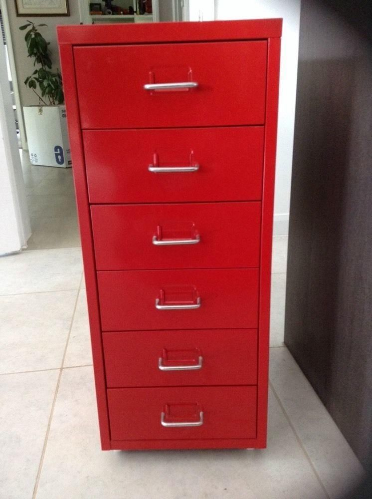 Ikea Red Filing Cabinet Drawers   1
