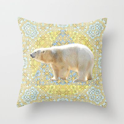 Polar Throw Pillow by Lisa Argyropoulos - $20.00