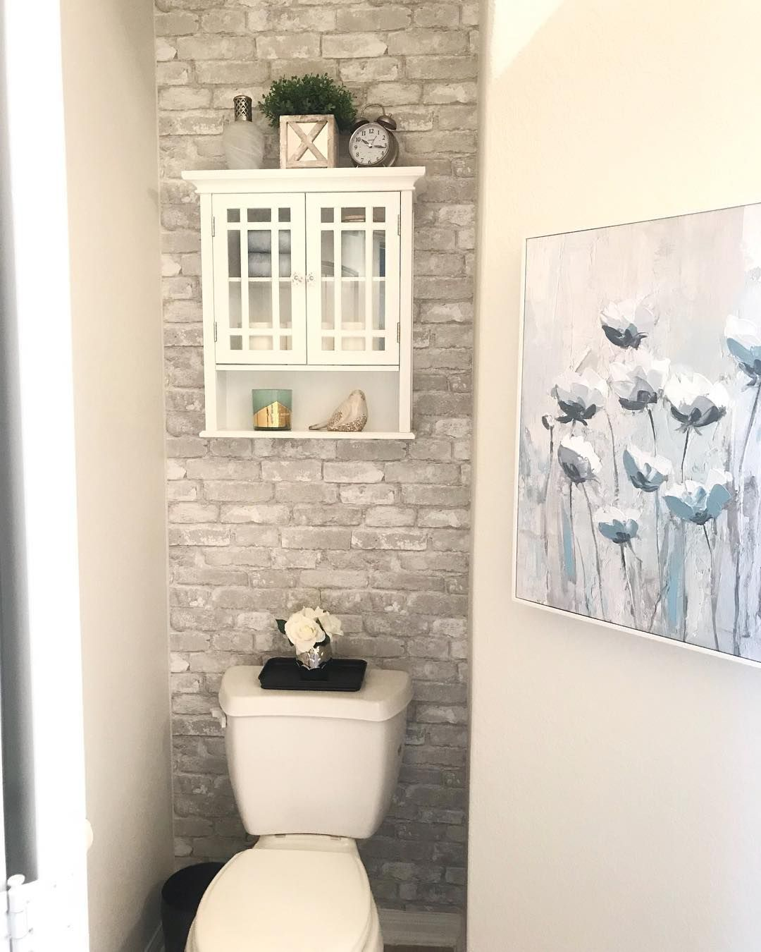 Powder Room Makeover #reveal!! I Absolutely LOVE How It