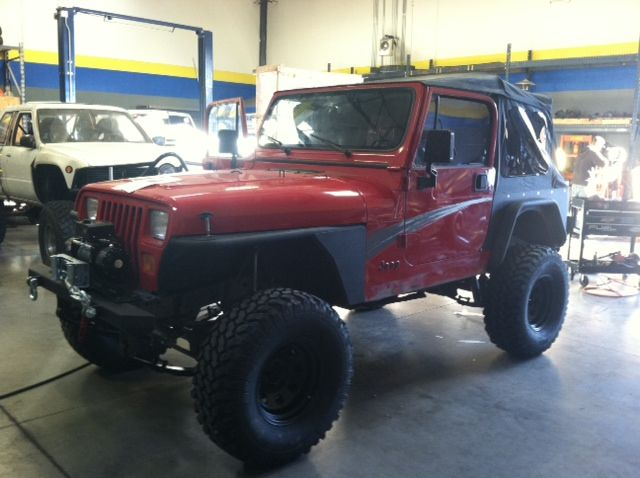 Wrangler With 4 Rubicon Express Lift Kit 33 Pro Comp Tires Full
