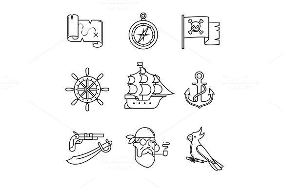 Pirate Icons Pirate Tattoo Pirate Tattoo Simple Pirate