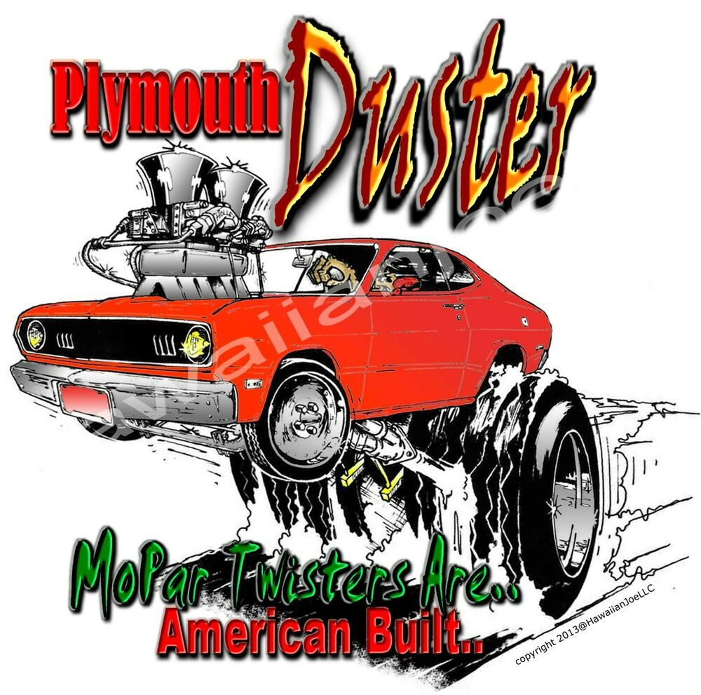 """NEW PLYMOUTH """"ORANGE"""" DUSTER """"DTG"""" PRINT On 100 COTTON"""