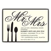 mr and mrs utensil rehearsal dinner invitations paperstyle