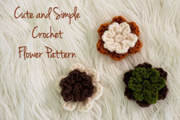 Free crochet flower video tutorial and written pattern! These ...