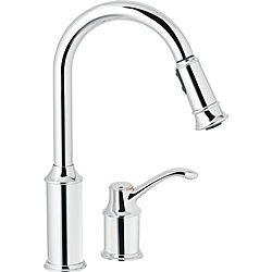 Overstock Faucets Kitchen | Overstock Com 407 Moen 7590c Aberdeen One Handle Pulldown Kitchen