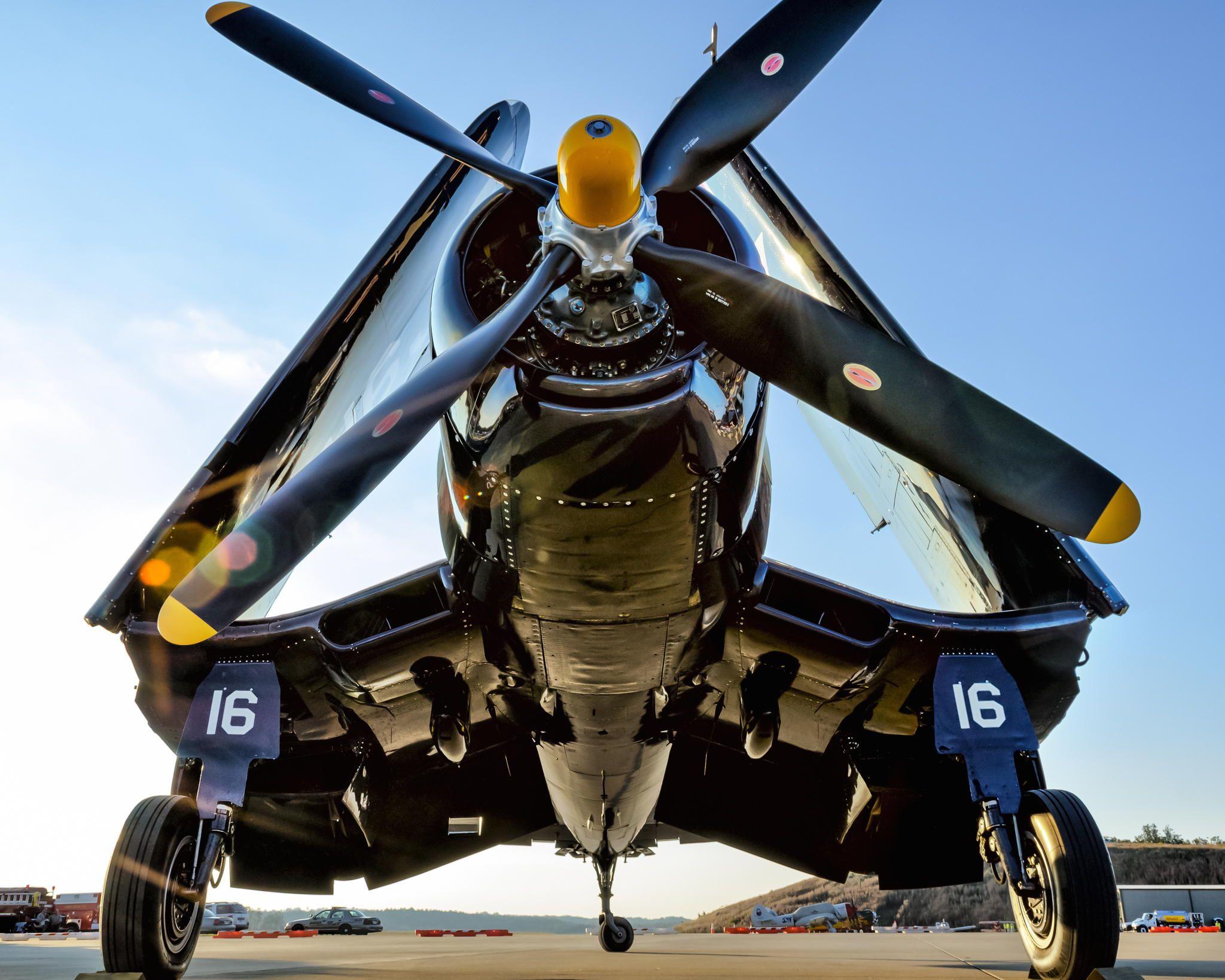 F4U Corsair low and close
