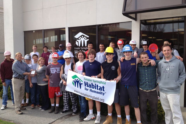 Varsity Boys Lacrosse donates their time to Habitat for Humanity