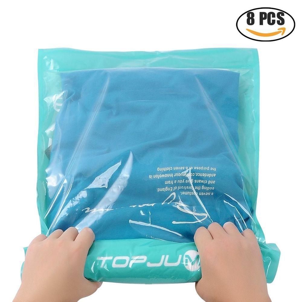 E Saver Travel Storage Bags For Clothes No Vacuum Or Air Pump Needed Topjum