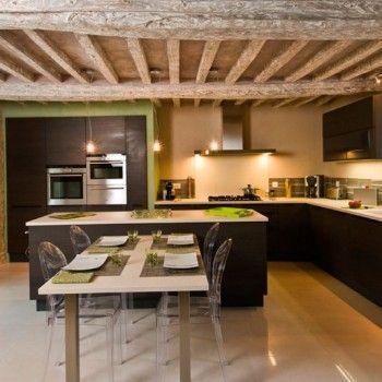 ilot-central-table-escamotable ambiance cuisine Pinterest Lofts