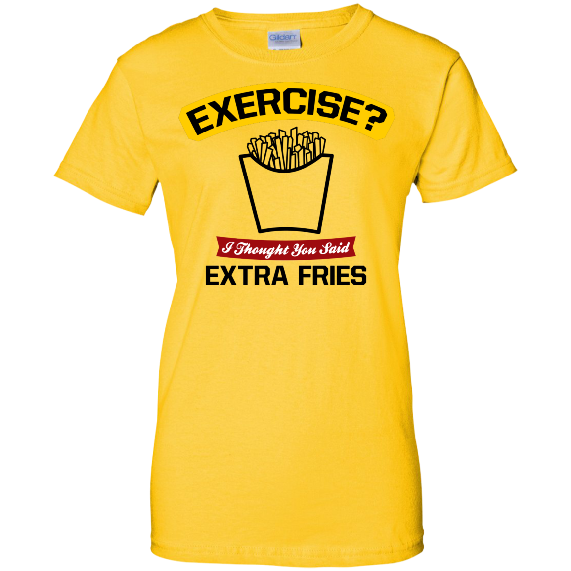MBIT Exclusive Extra Fries Ladies Custom 100% Cotton T-Shirt Cool