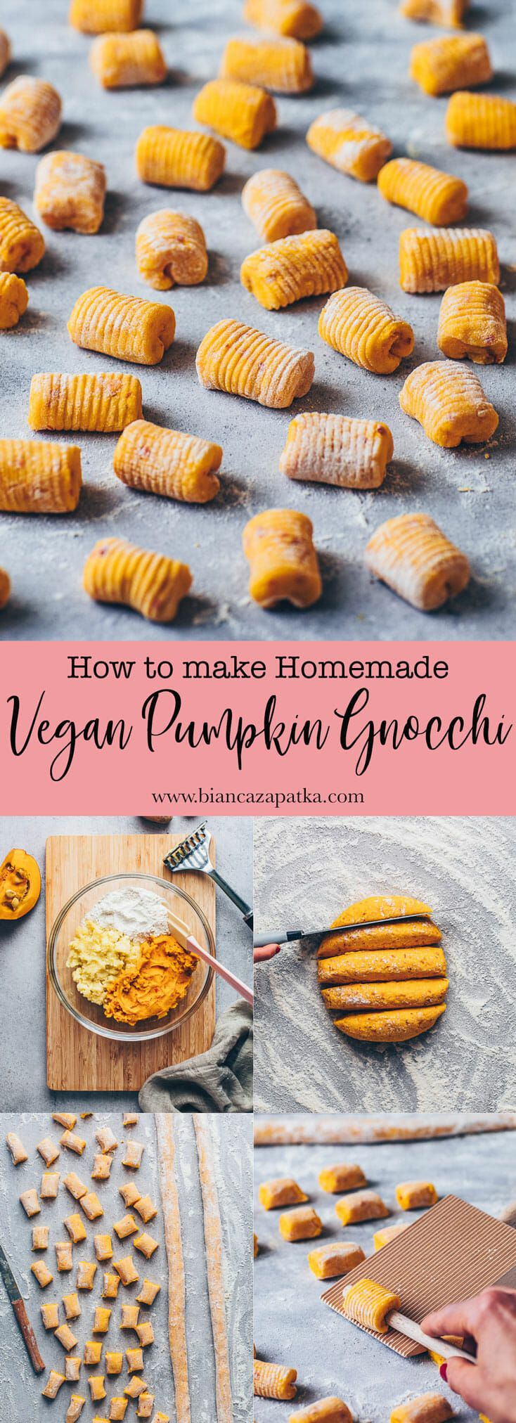 Pumpkin Gnocchi Recipe | Vegan, Homemade - Bianca Zapatka | Recipes #fallrecipesdinner